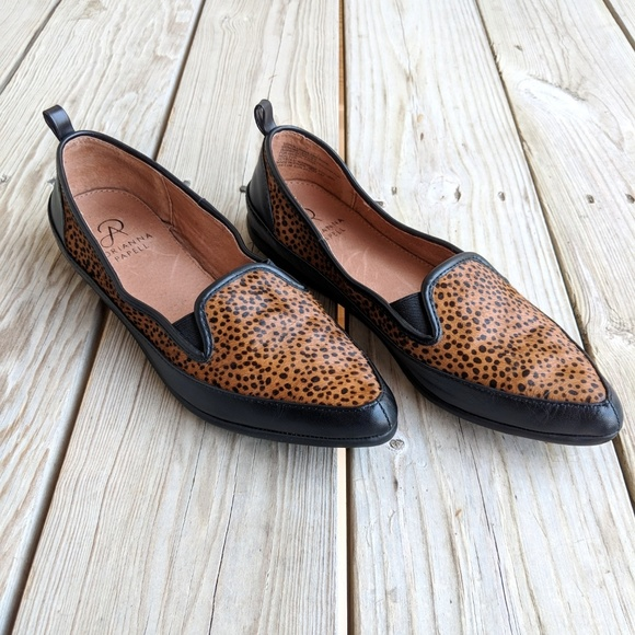 486b682d392 Adrianna Papell 7.5 Lennox Cheetah Loafers leather
